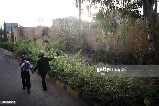 Nineyearold Yemeni Jew Salim Moussa left walks with his older brother Naftali inside a protected compound in Sana'a named Tourist City January 20...