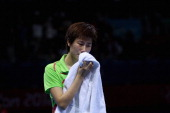 Ning Ding of China cries after the Women's Singles Table Tennis Gold Medal match against Xiaoxia Li of China on Day 5 of the London 2012 Olympic...