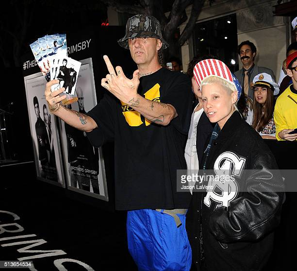 Ninja and Yolandi Visser of Die Antwoord attends the premiere of 'The Brothers Grimsby' at Regency Village Theatre on March 3 2016 in Westwood...