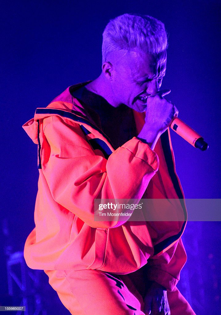 Ninja of Die Antwoord performs as part of Sonar on Tour at the Fox Theater on November 9, 2012 in Oakland, California.