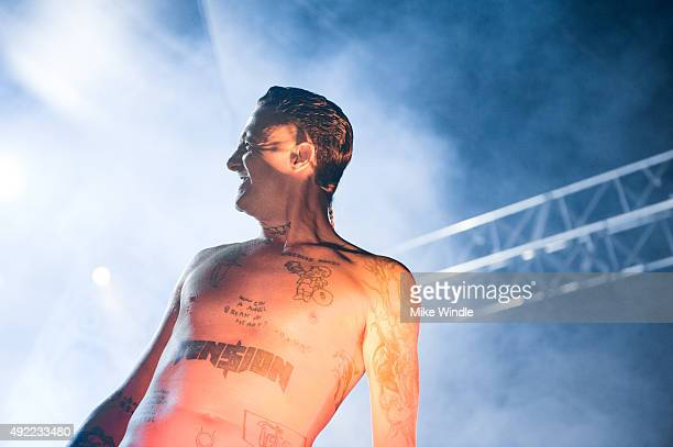 Ninja of Die Antwoord performs onstage during Festival Supreme 2015 at The Shrine Auditorium on October 10 2015 in Los Angeles California