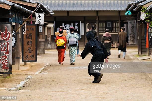 Ninja tailing Geishas