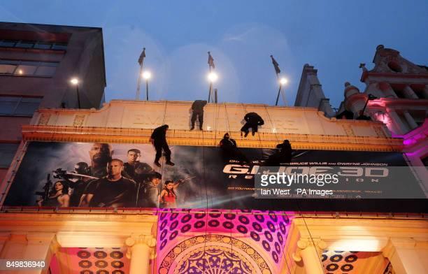 Ninja's arrive for the UK premiere of GI Joe Retaliation at the Empire Cinema in London