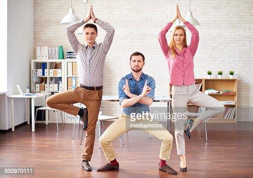 Ninjas in office : Stock Photo