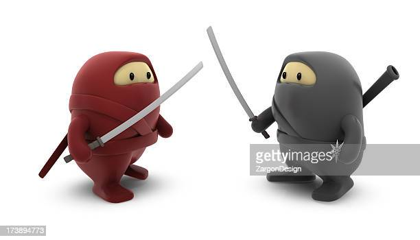 Ninjas Red Versus Black
