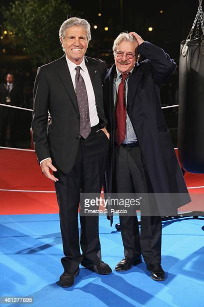 Nino Benvenuti and Giancarlo Giannini attend the 'Grudge Match' premiere at The Space Moderno on January 7 2014 in Rome Italy