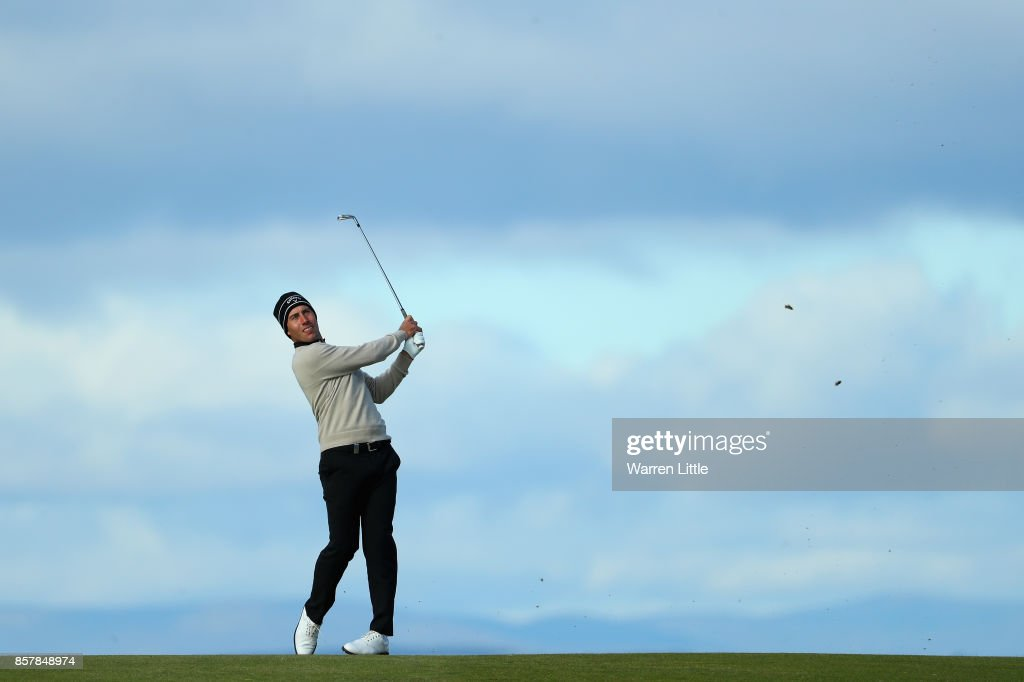 Nino Bertasio of Italy in action during day one of the 2017 Alfred Dunhill Championship at Kingsbarns on October 5, 2017 in St Andrews, Scotland.