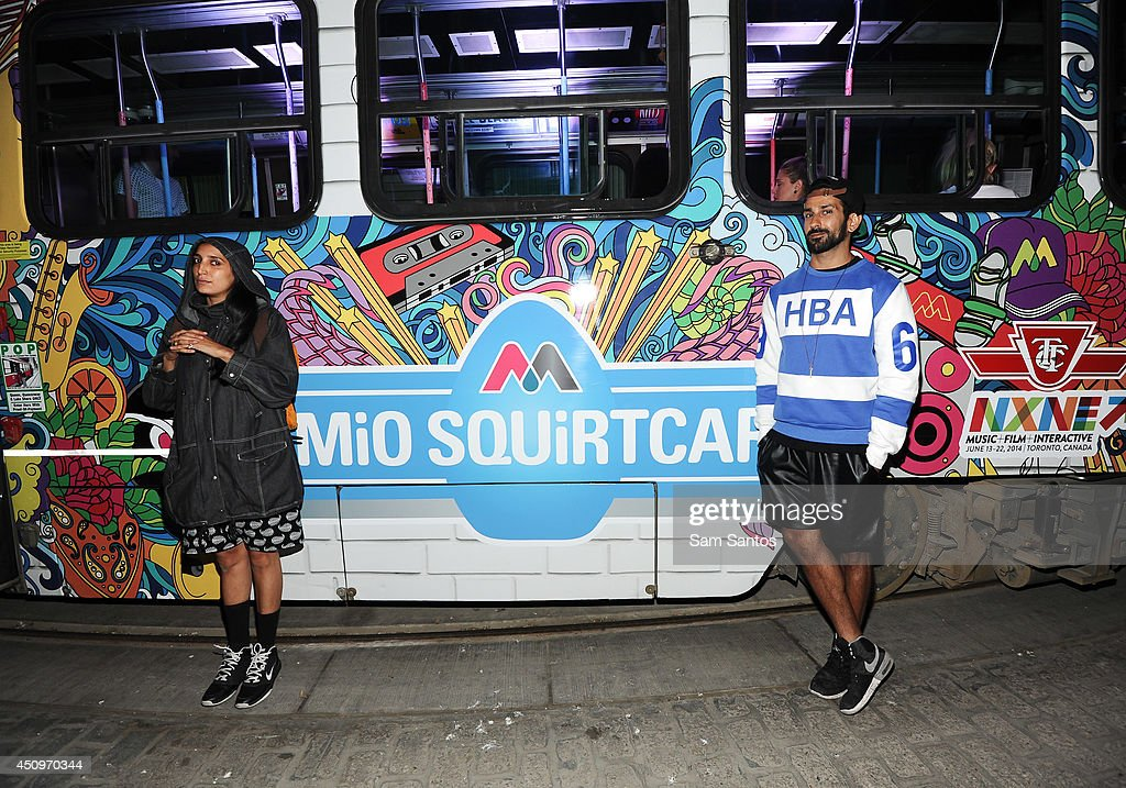 Nino Brown and Sammy Royale of Yes Yes Yall attend the MiO Squirtcar - Day 3 on June 20, 2014 in Toronto, Canada.