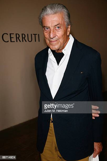 Nino Cerruti attends the Cerruti fashion show at Musee de l'Homme on June 26 2009 in Paris France