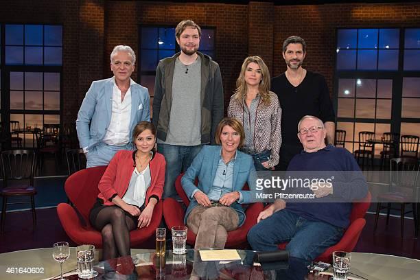Nino de Angelo Bastian Bielendorfer Anke Engelke Pasquale Aleardi Sarah Alles Bettina Boettinger and Armin Maiwald attend the 'Koelner Treff' TV Show...