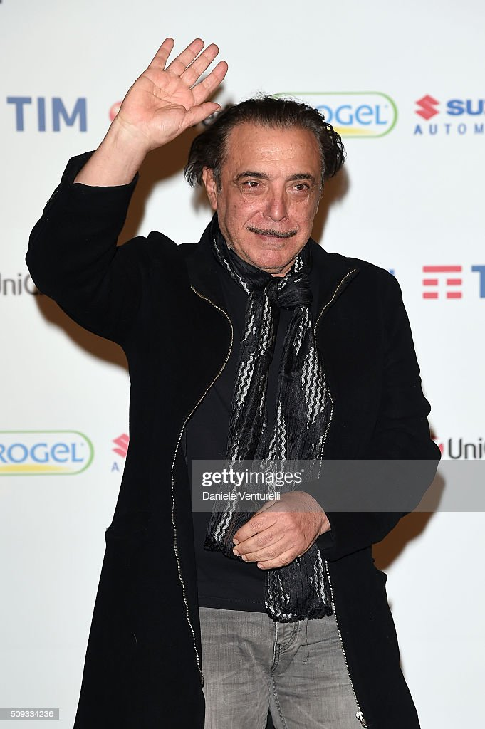 <a gi-track='captionPersonalityLinkClicked' href=/galleries/search?phrase=Nino+Frassica&family=editorial&specificpeople=2091901 ng-click='$event.stopPropagation()'>Nino Frassica</a> attends a photocall at 66. Sanremo Festival on February 10, 2016 in Sanremo, Italy.