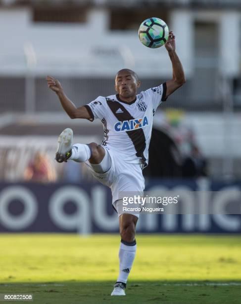 Nino Paraiba of Ponte Preta kicks the ball during the match between Ponte Preta and Palmeiras as a part of Campeonato Brasileiro 2017 at Moises...