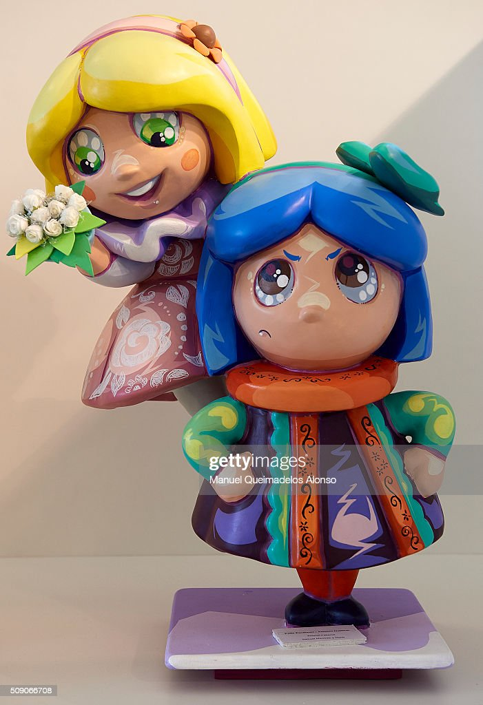 A 'Ninot' is displayed during the Ninot exhibition ahead of Las Fallas Festival at Museo de Las Ciencias Principe Felipe on February 8, 2016 in Valencia, Spain. The Fallas festival, which runs from March 15 until March 19, celebrates the arrival of spring with fireworks, fiestas and bonfires made by large puppets named Ninots.