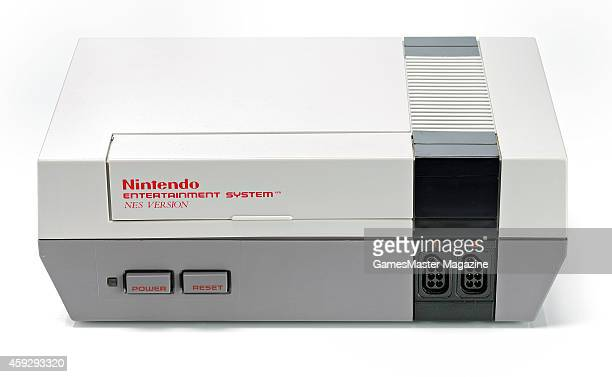 A Nintendo Entertainment System video game console photographed on a white background taken on March 26 2009