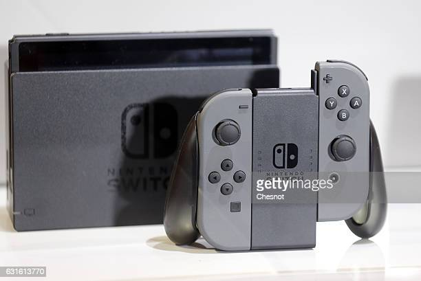 Nintendo Switch games console is displayed during the new console's unveiling by Nintendo Co on January 13 2017 in Paris France This nextgeneration...