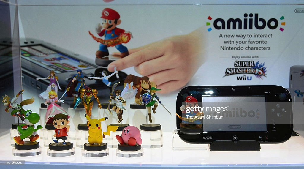 Nintendo's Wii U and amiibo are displayed during the Electronic Entertainment Expo on June 10, 2014 in Los Angeles, California. The annual video game conference and show runs June 10-12.