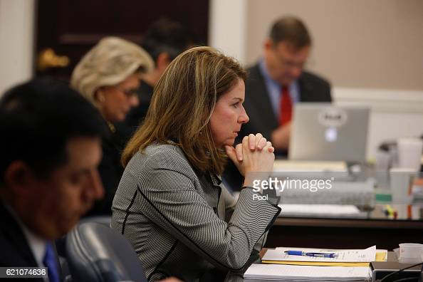 Ninth Circuit Solicitor Scarlett Wilson sits at a table in the courtroom during the trial of former North Charleston Police Officer Michael Slager...