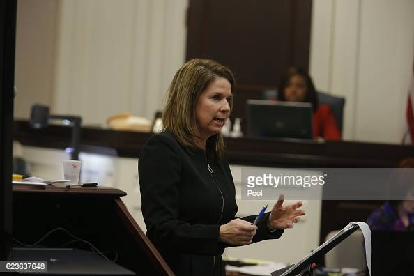 Ninth Circuit Solicitor Scarlett Wilson speaks during the murder trial of former North Charleston police officer Michael Slager at the Charleston...