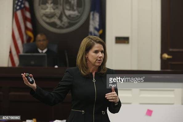 Ninth Circuit Solicitor Scarlett Wilson speaks to the jury during the murder trial of North Charleston police officer Michael Slager at the...