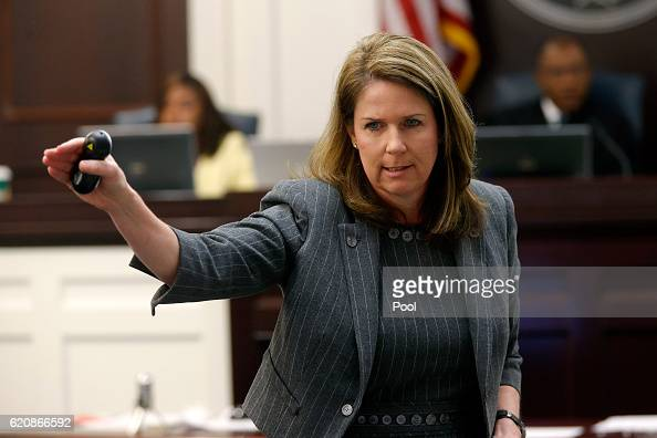 Ninth Circuit Solicitor Scarlett Wilson speaks while in the courtroom during the trial of North Charleston Police Officer Michael Slager Thursday Nov...