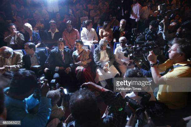 Ninth International Mumbai Film Festival Amitabh Bachchan Shabana Azmi and Javed Akhtar along with otehr distinguished celebrities on the occasion of...