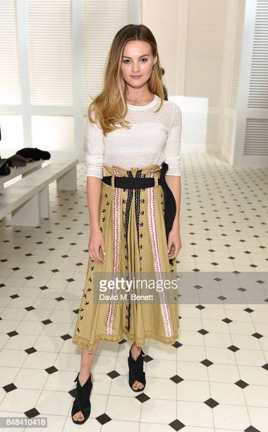 Niomi Smart attends Temperley London Fashion Show SS 18 during London Fashion Week at The Lindley Hall on September 17 2017 in London England