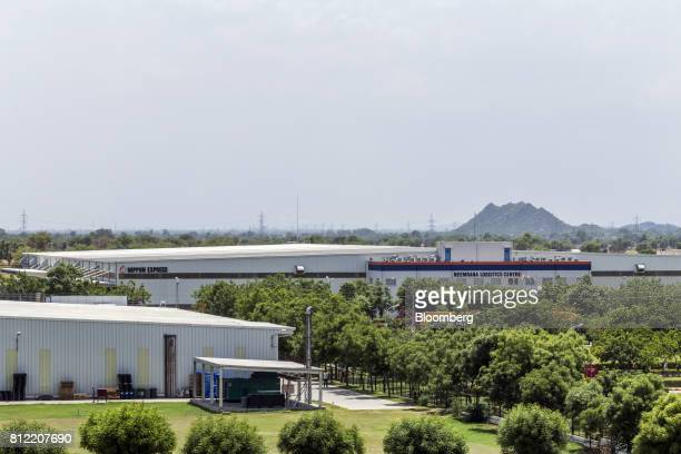 A Nippon Express Co warehouse stands at the Neemrana Logistics Centre inside the Rajasthan State Industrial Development and Investment Corporation's...