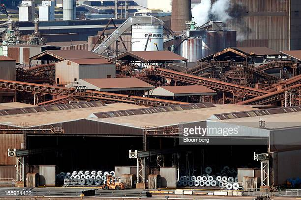 Nippon Steel Sumitomo Metal Corp's Kashima works stands in Kashima City Ibaraki Prefecture Japan on Thursday Nov 8 2012 Nippon Steel Sumitomo Metal...