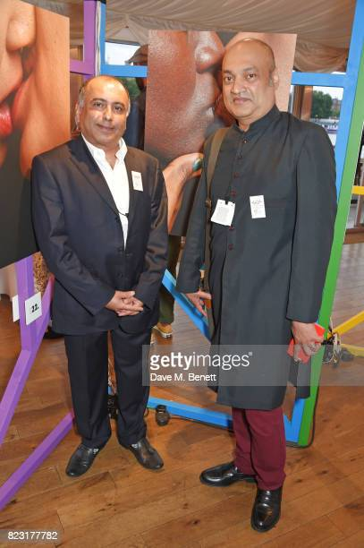 Niranjan Kamatkar founder of GFEST and Subodh Rathod attend Absolut's #KissWithPride event at the Houses of Parliament in celebration of the 50th...