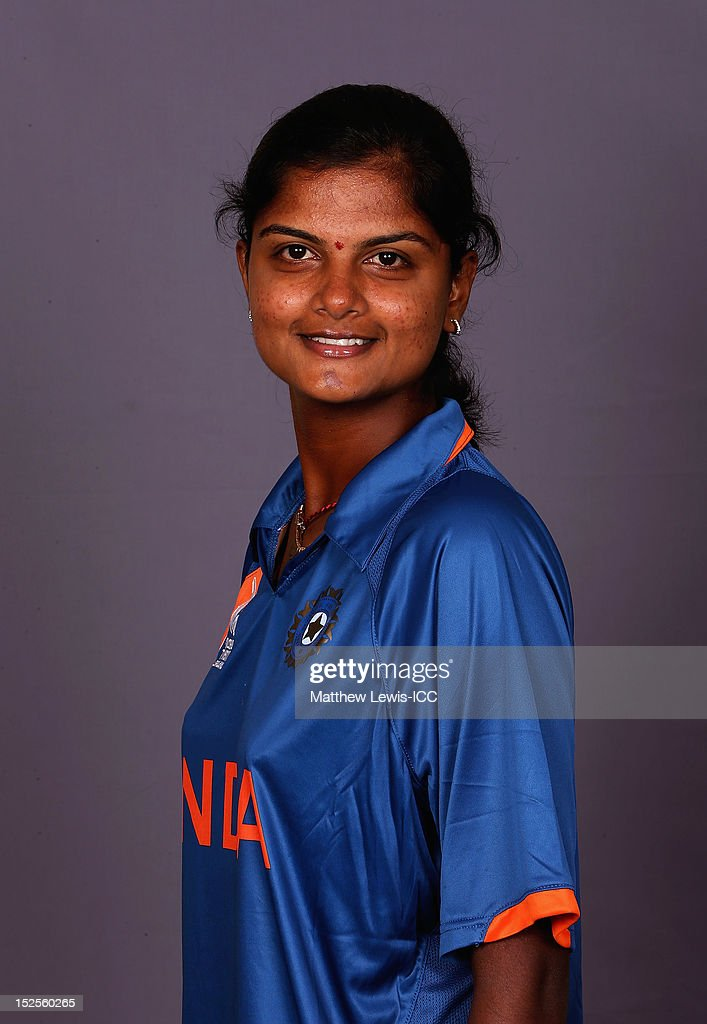 Niranjana Nagarajan of India Womens Cricket Team poses for a portrait ahead of the Womens ICC World T20 at the Galadari Hotel on September 22, 2012 in Colombo, Sri Lanka.