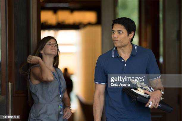 Nirav Tolia chief executive officer of Nextdoor attends the first day of the annual Allen Company Sun Valley Conference July 11 2017 in Sun Valley...