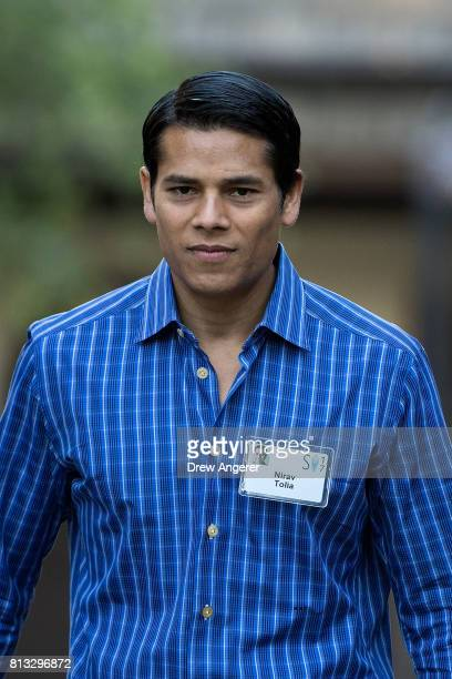 Nirav Tolia chief executive officer of Nextdoor attends the second day of the annual Allen Company Sun Valley Conference July 12 2017 in Sun Valley...