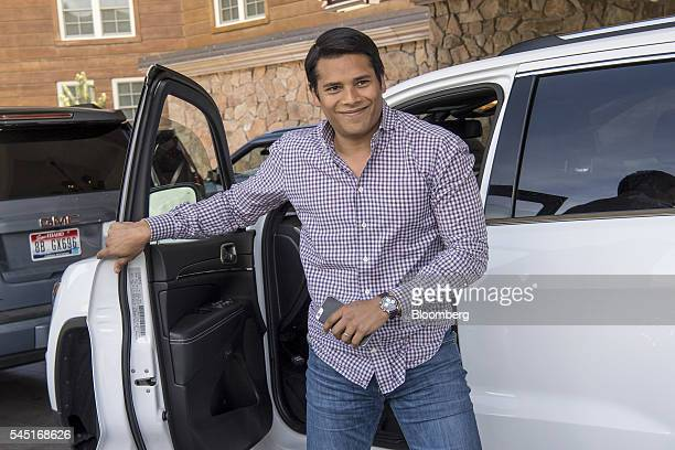 Nirav Tolia chief executive officer of Nextdoorcom Inc arrives for the Allen Co Media and Technology Conference in Sun Valley Idaho US on Tuesday...