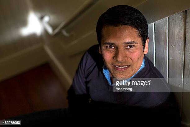 Nirav Tolia chief executive officer of Nextdoorcom Inc sits for a photograph after a Bloomberg West television interview in San Francisco California...