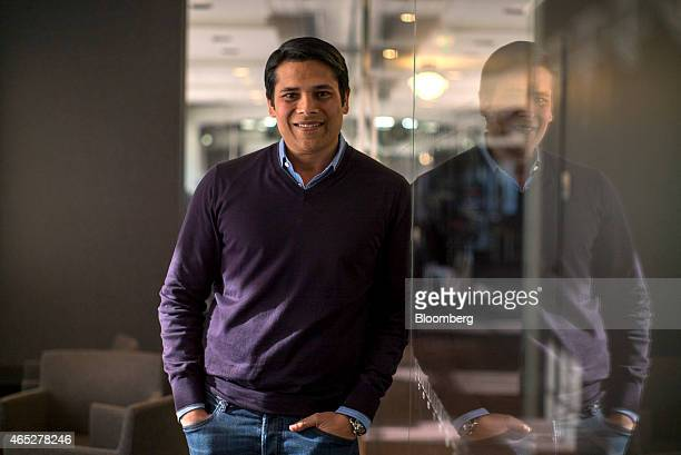 Nirav Tolia chief executive officer of Nextdoorcom Inc stands for a photograph after a Bloomberg West television interview in San Francisco...