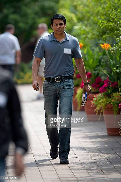 Nirav Tolia cofounder and chief executive officer of Nestdoorcom leaves the morning session at the Allen Co Media and Technology Conference in Sun...