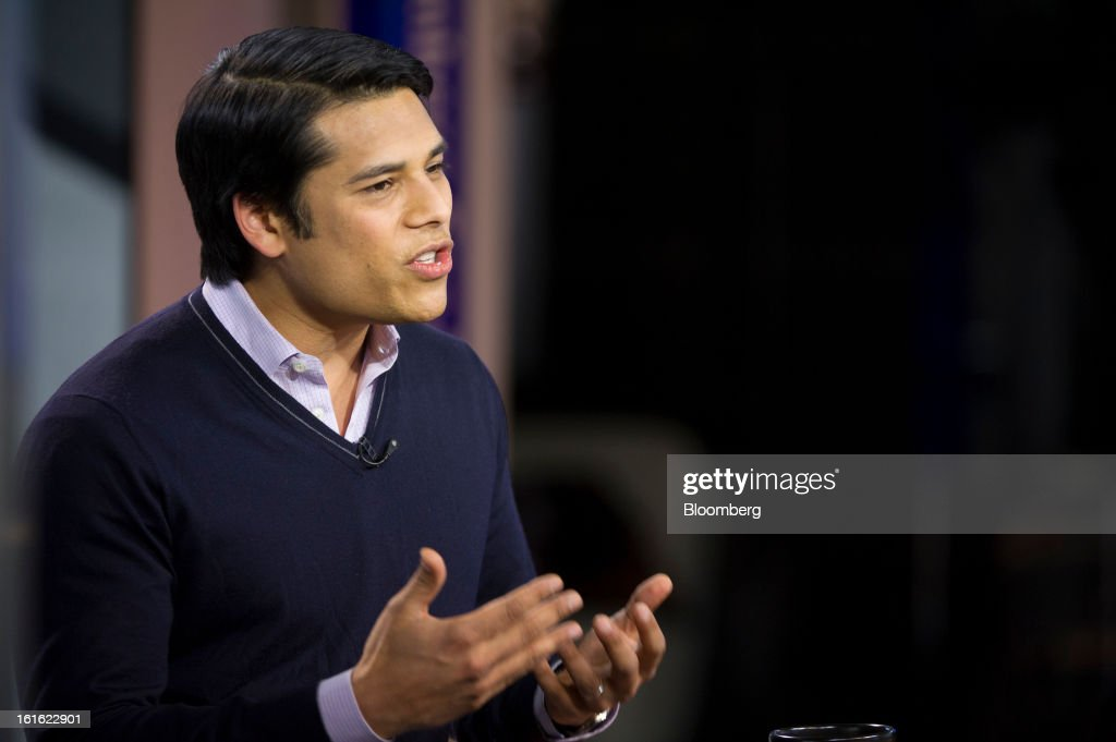 Nirav Tolia, co-founder and chief executive officer of Nextdoor.com Inc., speaks during a Bloomberg West Television interview in San Francisco, California, U.S., on Tuesday, Feb. 12, 2013. Tolia said the company isn't trying to make money yet because it's focused on attracting more users. Photographer: David Paul Morris/Bloomberg via Getty Images