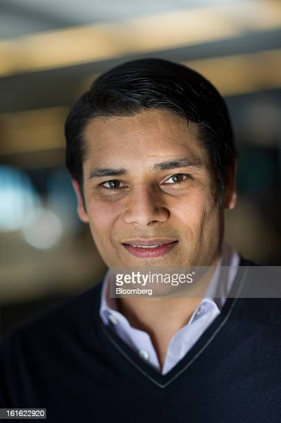 Nirav Tolia cofounder and chief executive officer of Nextdoorcom Inc stands for a photograph after a Bloomberg West Television interview in San...