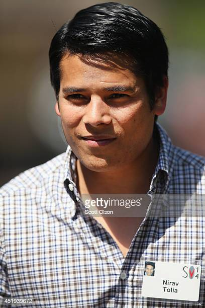 Nirav Tolia cofounder and chief executive officer of Nextdoorcom Inc attends the Allen Company Sun Valley Conference on July 9 2014 in Sun Valley...