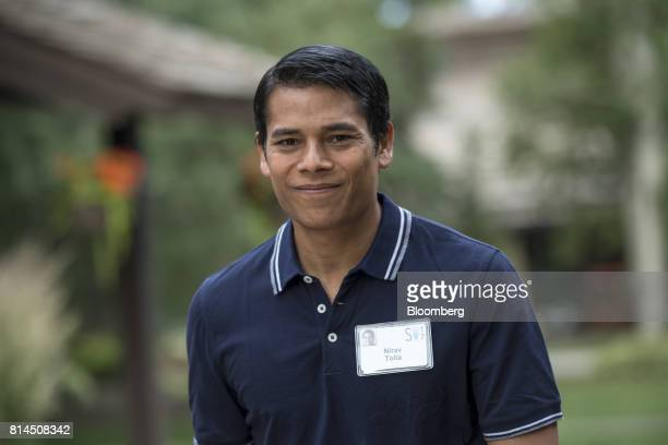 Nirav Tolia cofounder and chief executive officer of Nextdoorcom Inc arrives for the morning sessions during the Allen Co Media and Technology...