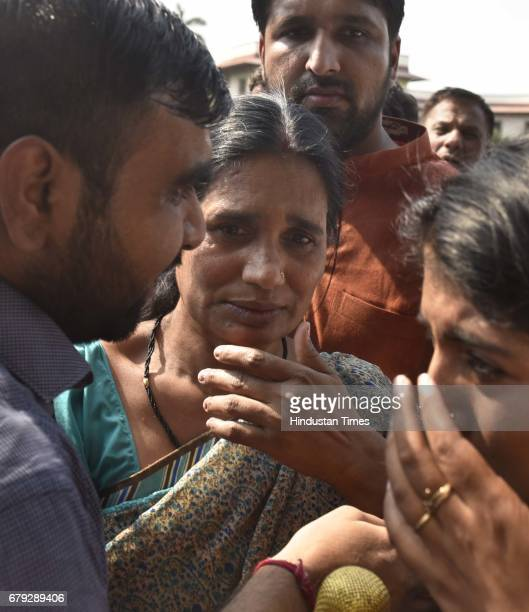 Nirbhaya's mother surrounded by journalists after the Supreme Court pronounced verdict on the appeals filed by four death row convicts against death...