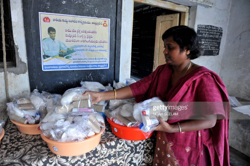 Nirmala Gudapati, director of the Society for Health, Education and Economical Progress (SHEEP), inspects medical kits to be distributed to leprosy patients during Anti Leprosy Week in Hyderabad on February 5, 2013. Leprosy currently affects approximately a quarter of a million people throughout the world, with 70 percent of these cases occurring in India. AFP PHOTO / Noah SEELAM