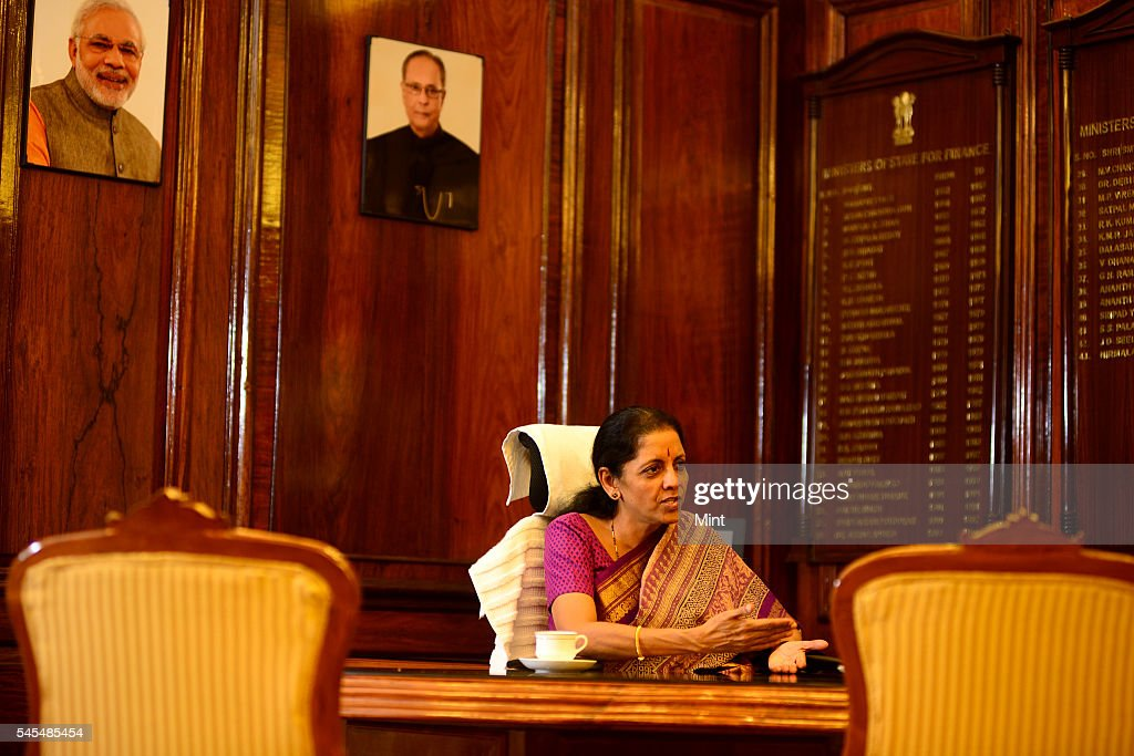 Nirmala Sitharaman Minister of Industry and Commerce during an exclusive interview on October 16 2014 in New Delhi India