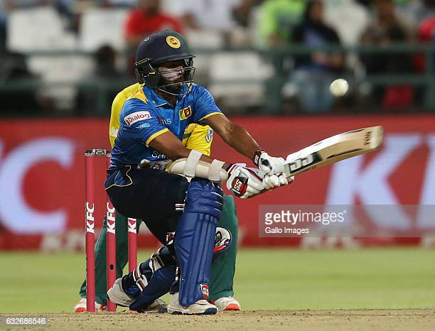 Niroshan Dickwella of Sri Lanka during the 3rd KFC T20 International between South Africa and Sri Lanka at PPC Newlands on January 25 2017 in Cape...