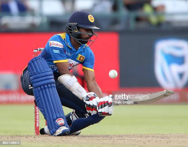 Niroshan Dickwella of Sri Lanka during the 4th ODI between South Africa and Sri Lanka at PPC Newlands on February 07 2017 in Cape Town South Africa