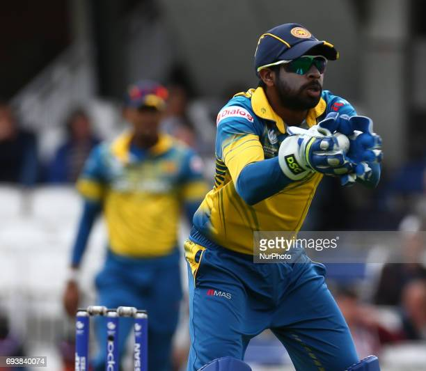 Niroshan Dickwella of Sri Lanka during the ICC Champions Trophy match Group B between India and Sri Lanka at The Oval in London on June 08 2017