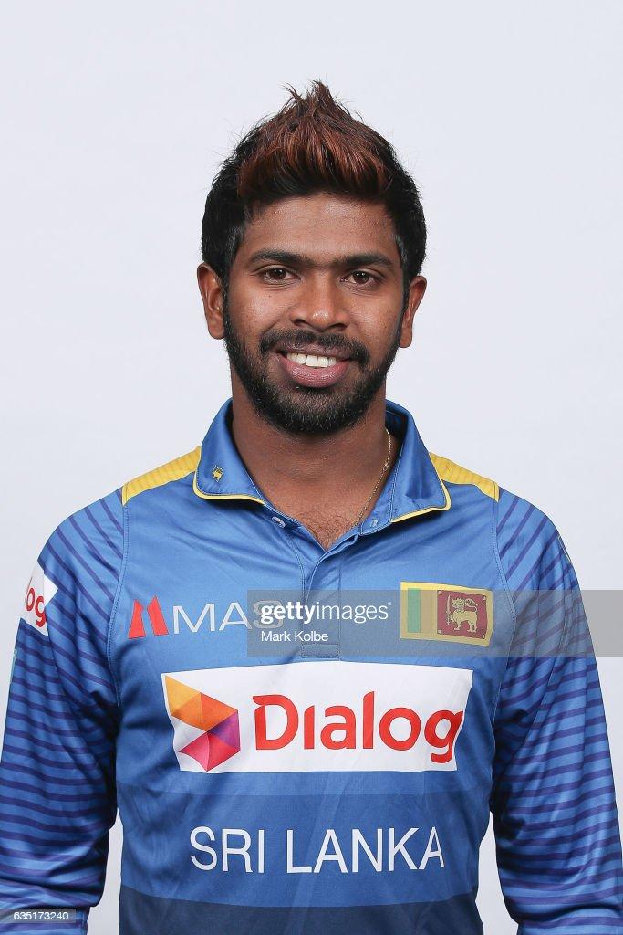 Niroshan Dickwella of Sri Lanka poses during a Sri Lanka headshots session at the Realm Hotel on February 14, 2017 in Canberra, Australia.