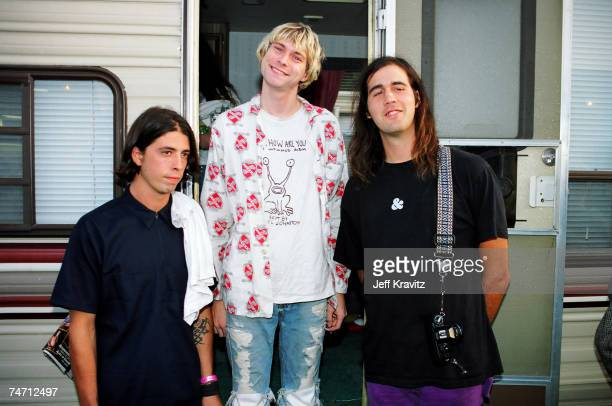 Nirvana at the 1992 MTV Video Music Awards Rehearsals at Pauley Pavilion in Los Angeles California