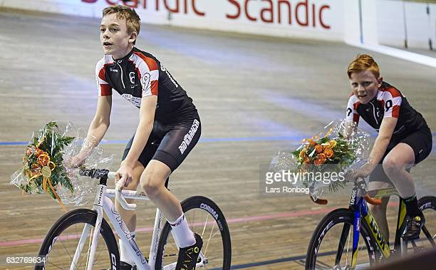Nis Fuglsang and Frederik B Sorensen win 1 race of the MINI 6 Days during day one at the Copenhagen Six Days race at Ballerup Super Arena on January...