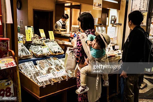 錦絵京都日本の食品市場